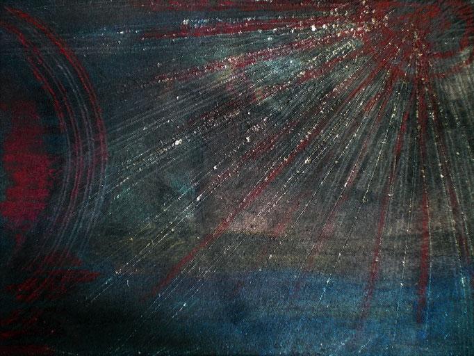 Göttermeere - 20 x 14,5 cm - 1994 - Mischtechnik - Malerei auf Pappe