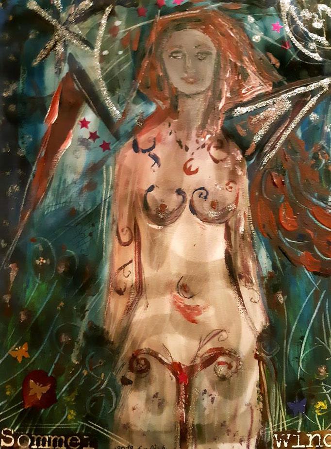 Sommerwind - 40 x 30 cm - 2019 - Acryl - Malerei auf Leinwand