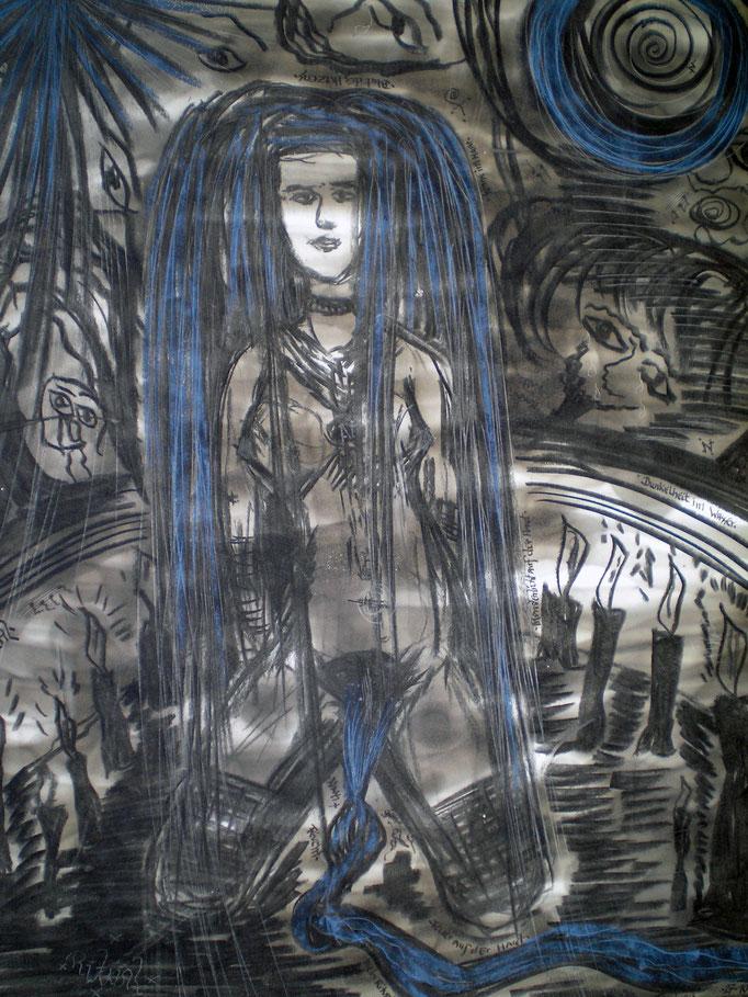 Ritual - 56 x 42 cm - 1992 - Mischtechnik - Malerei auf Papier