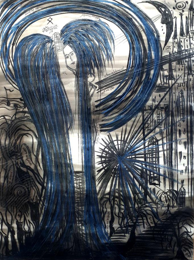 Königin - 56 x 42 cm - 1993 - Mischtechnik - Malerei auf Papier