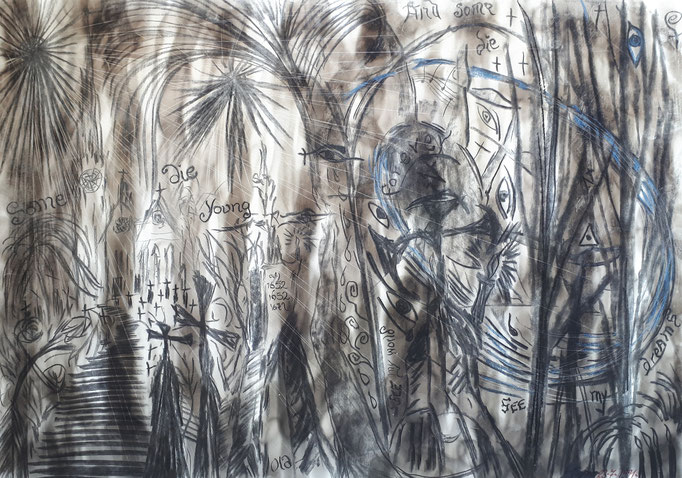Some die young - 59,5 x 42 cm - 1991 - Mischtechnik - Malerei auf Papier