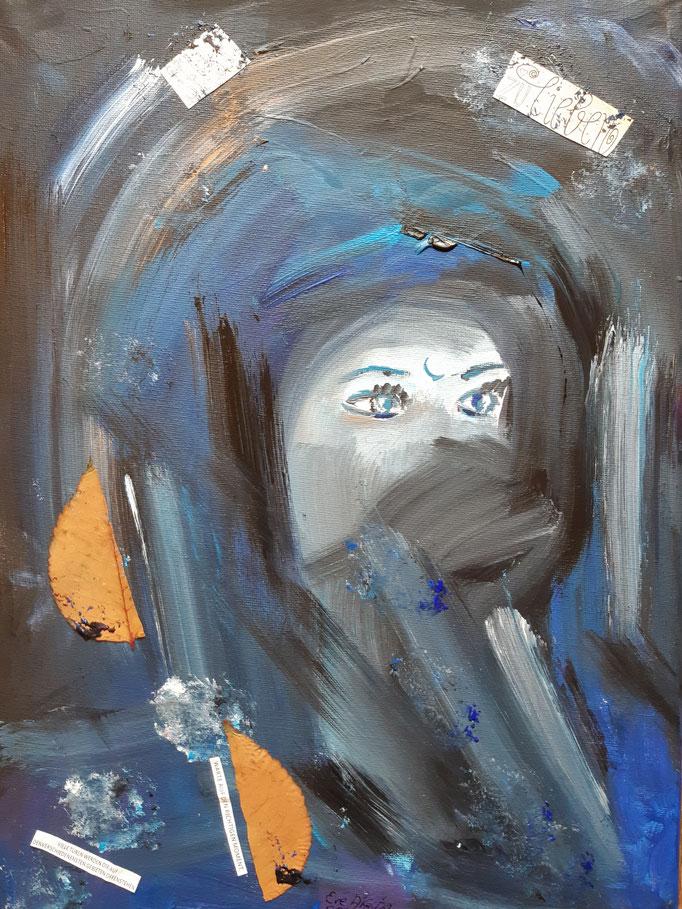 Selbst zu lieben - 40 x 30 cm - 2019 - Acryl - Malerei auf Leinwand