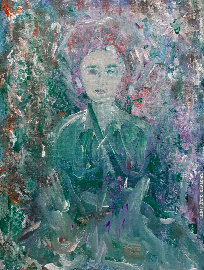 Unberührt bleiben  - 40 x 30 cm - 2020 - Acryl - Malerei auf Leinwand