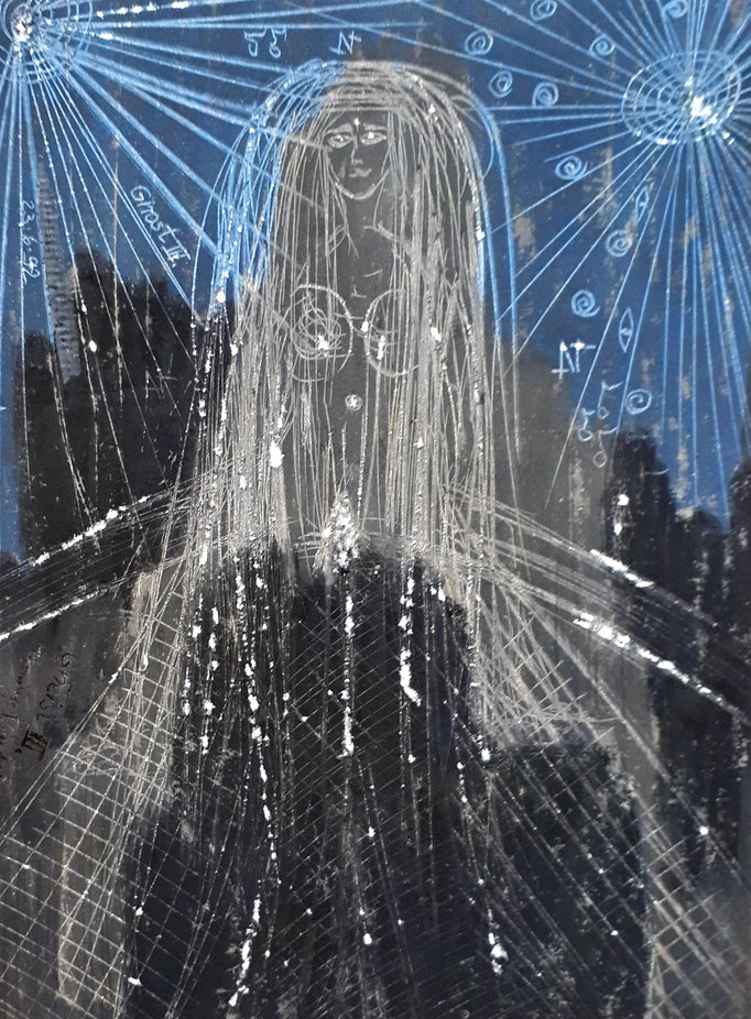 Ghost II - 20 x 15 cm - 1992 - Mischtechnik - Malerei auf Papier