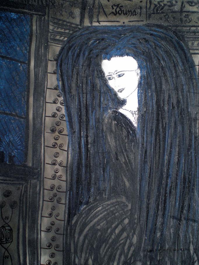 Iduna - 29,7 x 21 cm - 1992 - Mischtechnik - Malerei auf Papier
