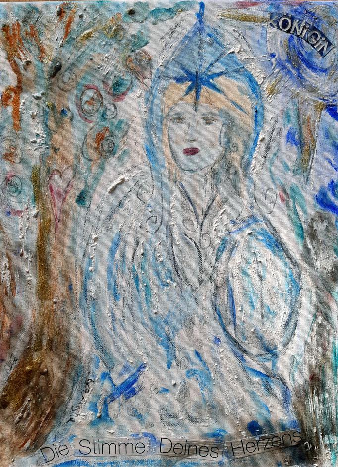 Die Stimme deines Herzens - 40 x 30 cm - 2019 - Acryl - Malerei auf Leinwand