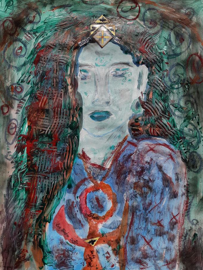 EinzigArt - Detail - 48 x 36 cm - 2020 - Mischtechnik - Malerei auf Papier