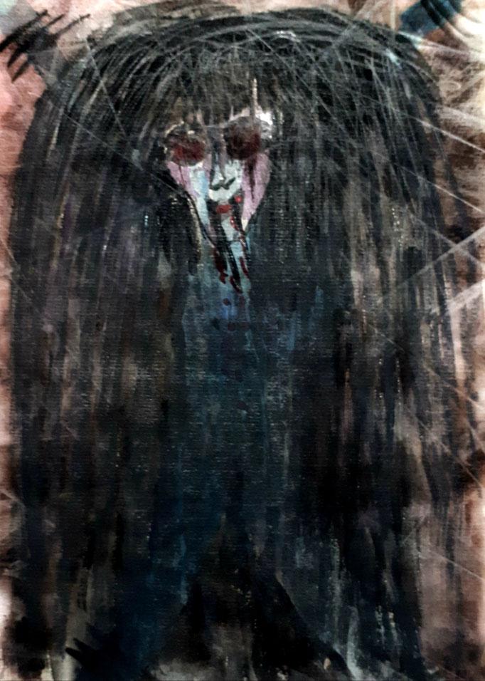 Dämon - 29,7 x 21 cm - 1990 - Mischtechnik - Malerei auf Papier