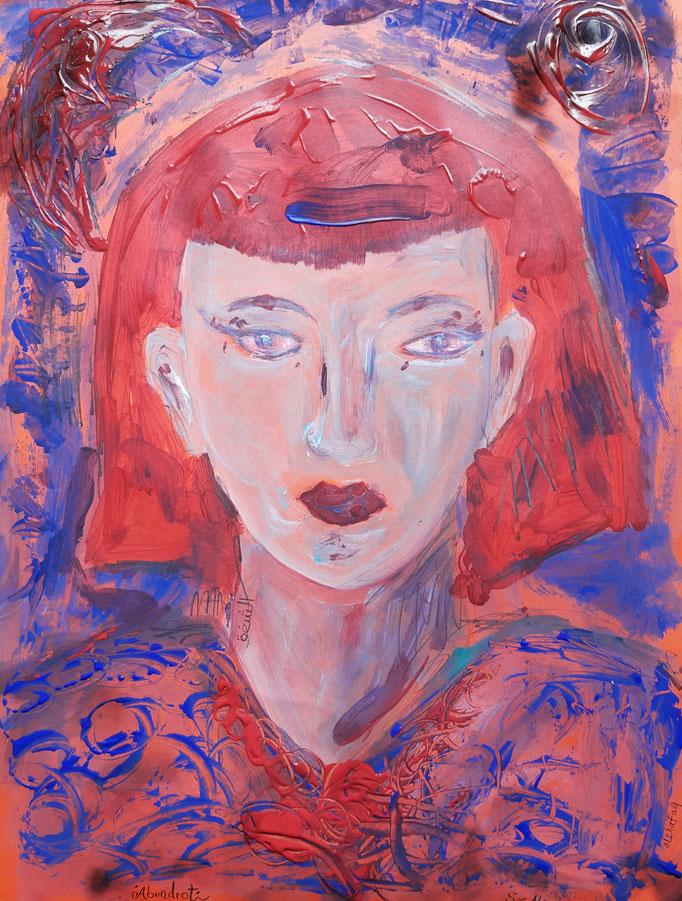 Abendrot - 56 x 42 cm - 2020 - Mischtechnik - Malerei auf Karton
