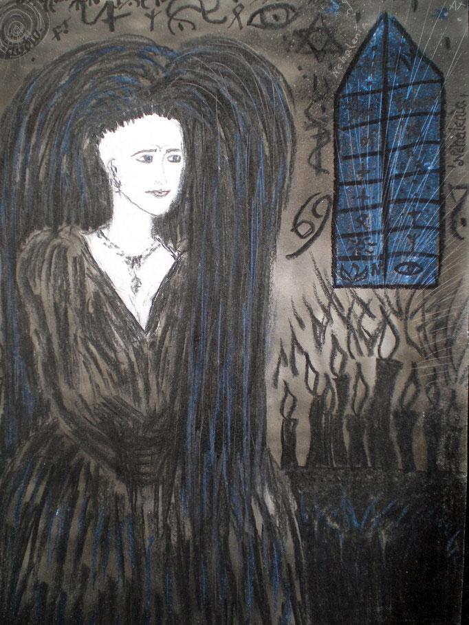 Nehalenia - 29,7 x 21 cm - 1992 - Mischtechnik - Malerei auf Papier