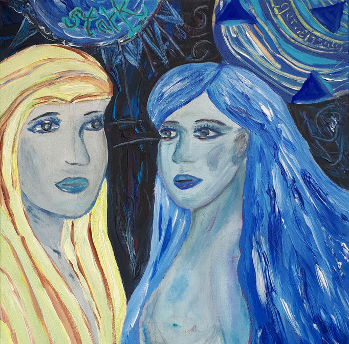 Gemeinsam stark - 40 x 40 cm - 2019 - Acryl - Malerei auf Leinwand