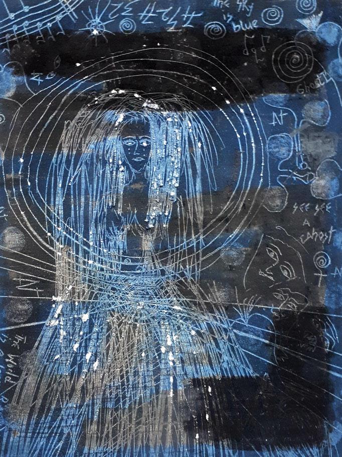 Ghost I - 20 x 15 cm - 1992 - Mischtechnik - Malerei auf Papier