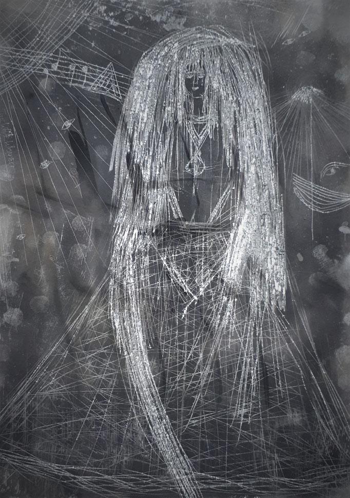 The White Woman - 27,5 x 20 cm - 1990 - Rauch auf Papier