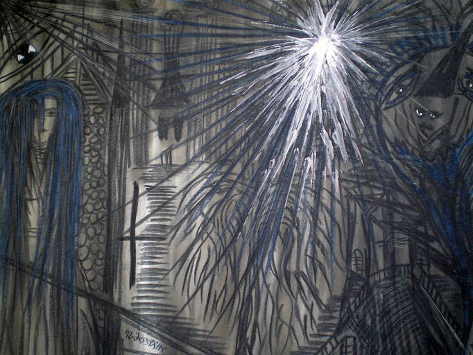 Todesstätte - 56 x 42 cm - 1993 - Mischtechnik - Malerei auf Papier