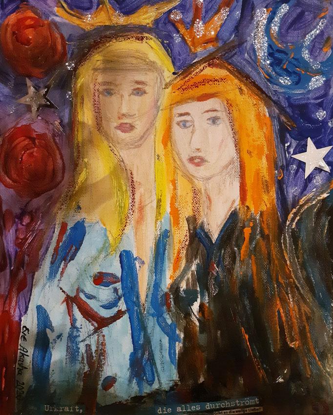 Urkraft, die alles durchströmt - 30 x 24 cm - 2020 - Acryl - Malerei auf Leinwand