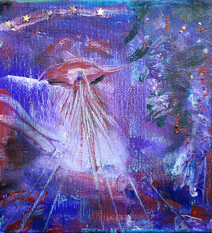Gefühlsentfaltung - 15 x 15 cm - 2019 - Acryl - Malerei auf Leinwand