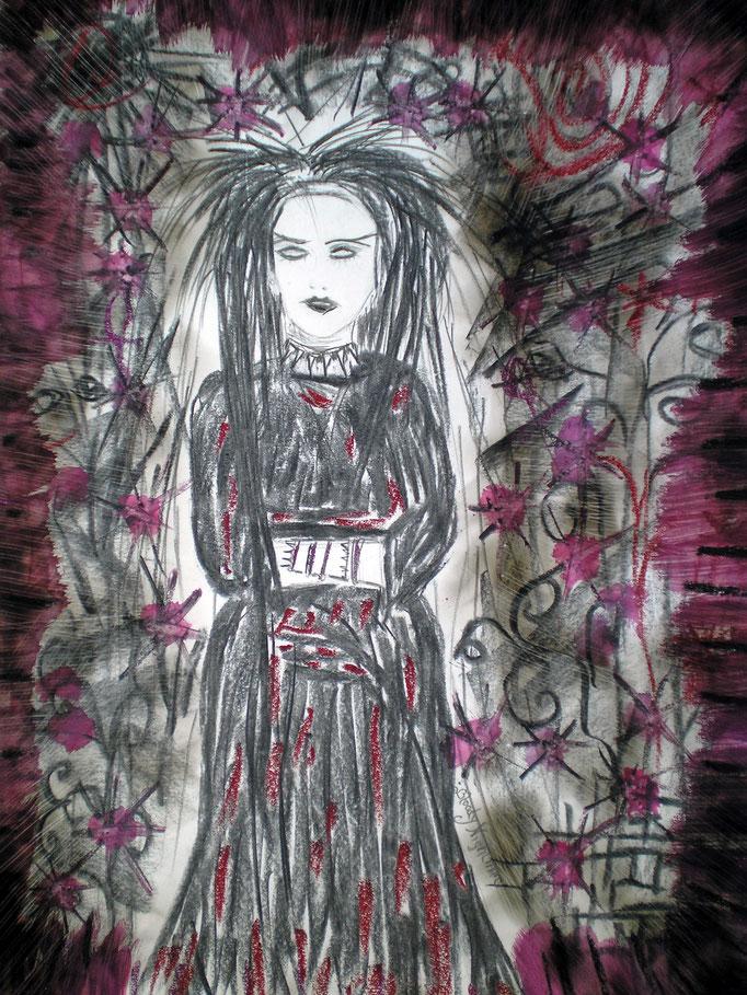 Bloody nightmare - 48 x 36 cm - Mischtechnik - Malerei auf Papier