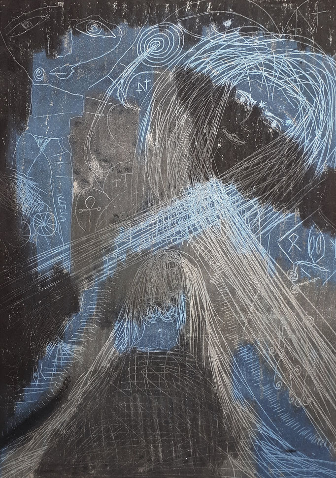 Vulfila - 29,7 x 21 cm - 1992 -Mischtechnik - Malerei auf Papier