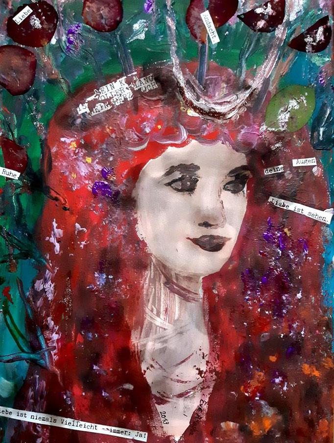 Liebe ist niemals Vielleicht - 40 x 30 cm - 2019 - Acryl - Malerei auf Leinwand