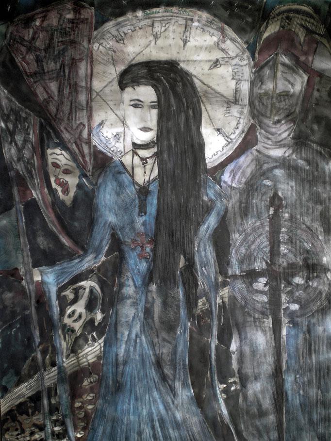 Träume vom Stern - 56 x 42 cm - 1994 - Mischtechnik - Malerei auf Papier