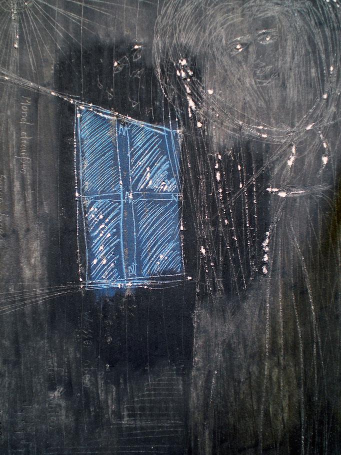 Geist II - 20 x 15 cm - 1992 - Mischtechnik - Malerei auf Papier
