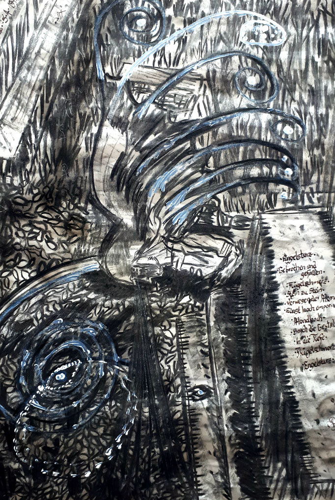 Engelsturz - 56 x 42 cm - 1992 - Mischtechnik - Malerei auf Papier
