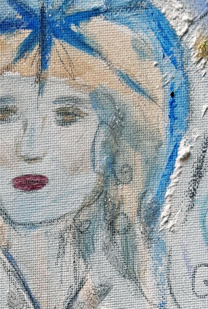 Die Stimme deines Herzens (Detail) - 40 x 30 cm - 2019 - Acryl - Malerei auf Leinwand
