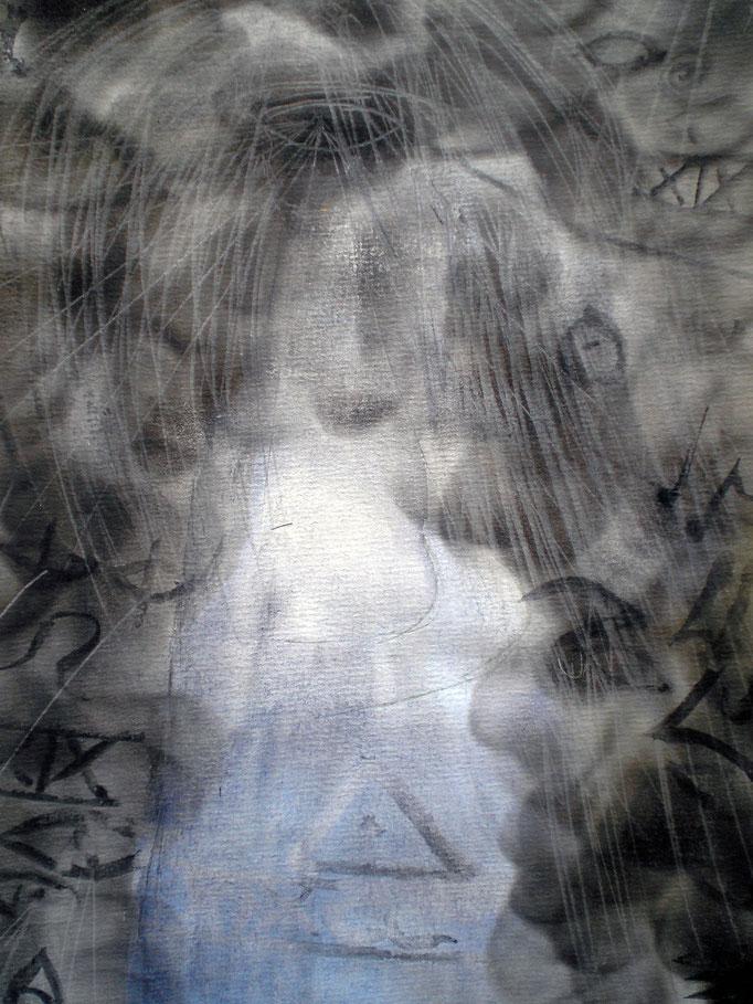 In the realm of Ghosts II - 29,5 x 21 cm  - 1990 - Aquarell/Mischtechnik