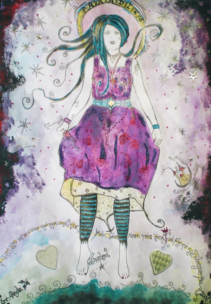 Schwebend - 2008 - Mischtechnik - Malerei auf Papier - Sold Out