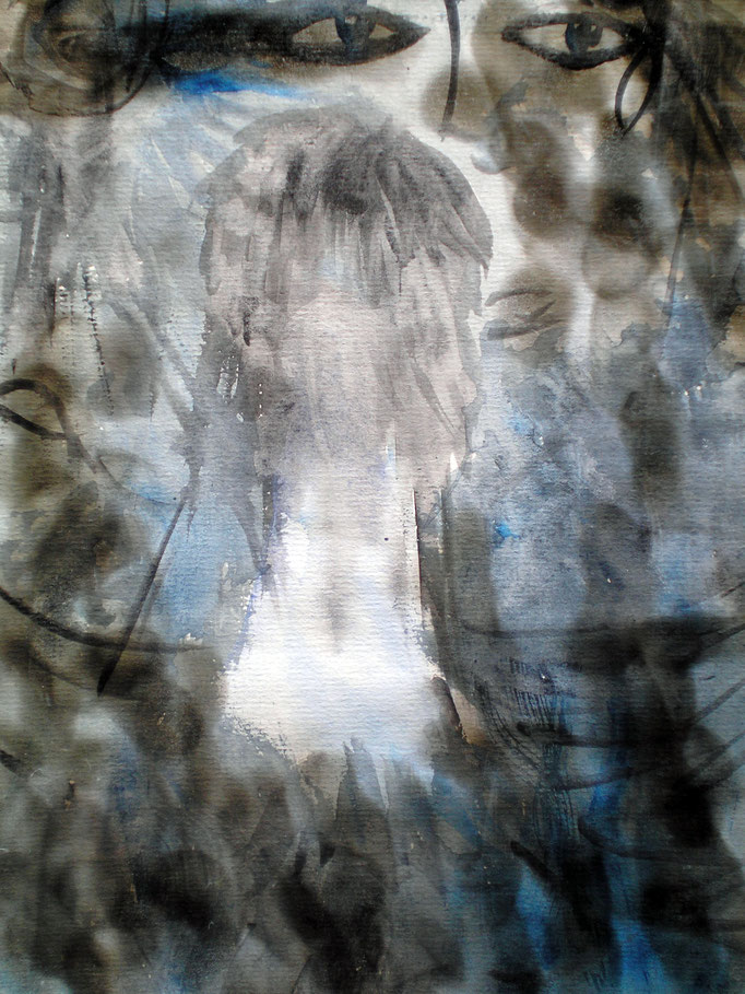 In the realm of Ghosts I - 29,5 x 21 cm  - 1990 - Aquarell/Mischtechnik