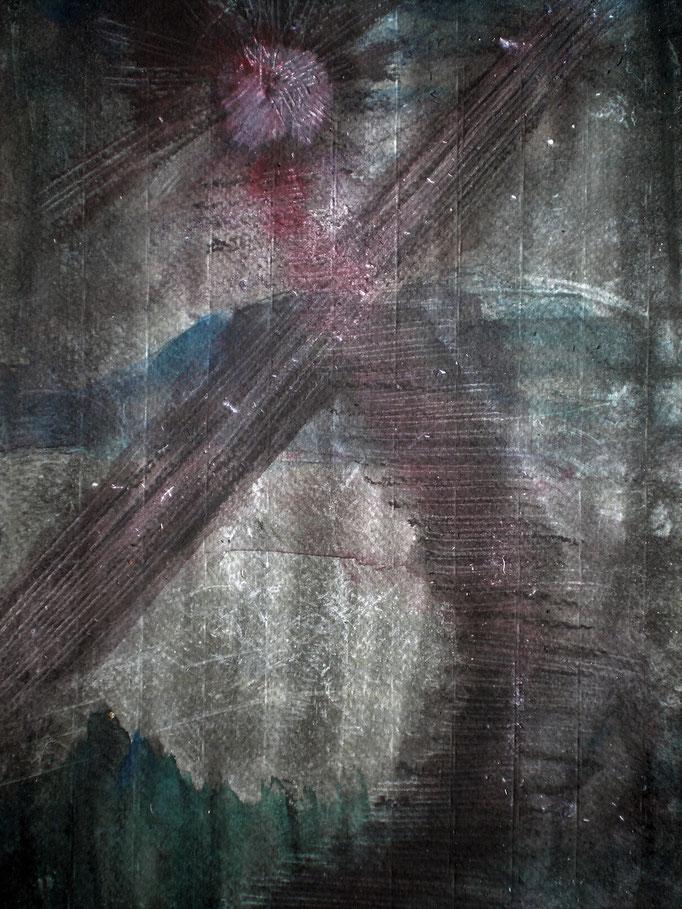 Sea of Blood - 29 x 20 cm - 1994 - Mischtechnik - Malerei auf Papier