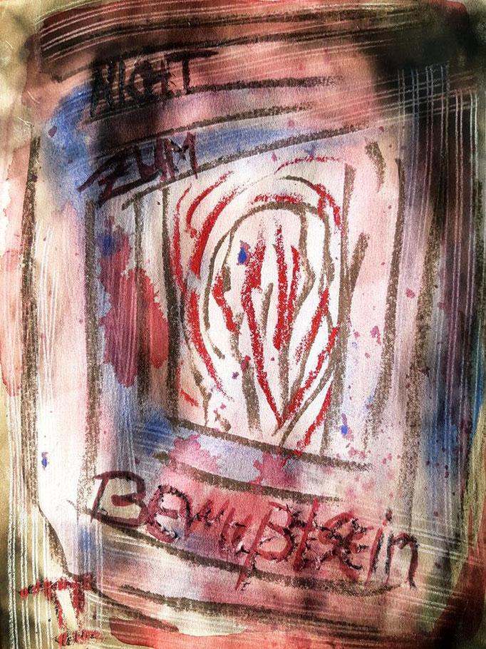 Nicht zum Bewußtsein - 24 x 18 cm - 2019 - Aquarell/Wasserfarben/Mischtechnik - Malerei auf Papier