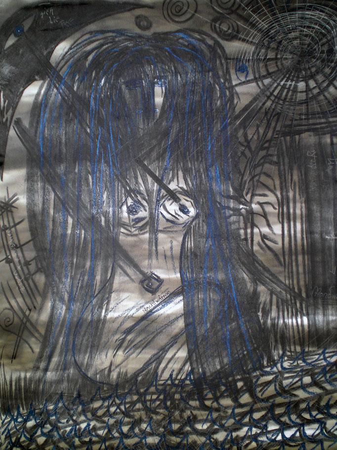 Mondwasser - 56 x 42 cm - 1993 - Mischtechnik - Malerei auf Papier