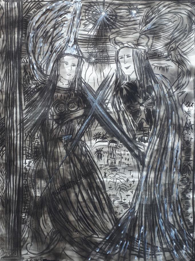 Romanzaissance - 56 x 42 cm - 1992 - Mischtechnik - Malerei auf Papier