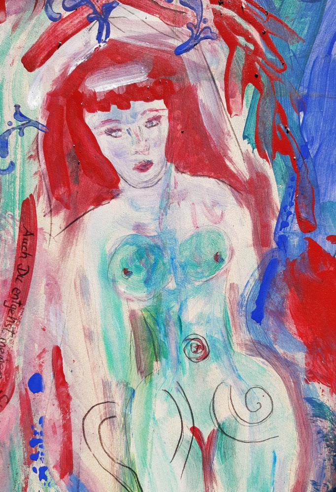 Manat - Detail 1 - 48 x 36 cm - 2020 - Mischtechnik - Malerei auf Karton