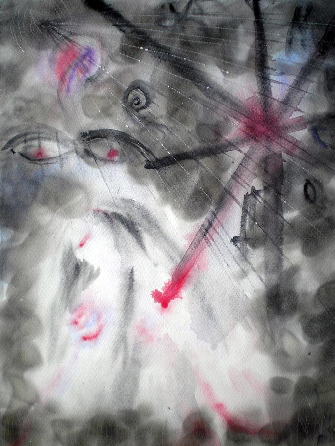 Phinella is dead - 40 x 30 cm  - 1992 - Aquarell/Mischtechnik
