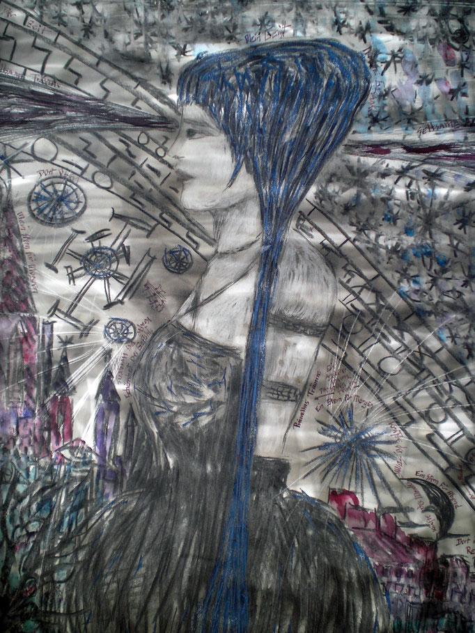 Phinella's Träume - 56 x42 cm - 1993 - Mischtechnik - Malerei auf Papier