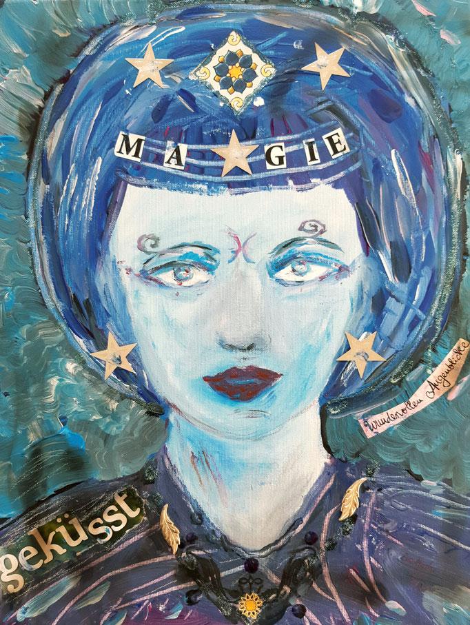 Magie geküsst - 40 x 30 cm - 2019 - Acryl - Malerei auf Leinwand