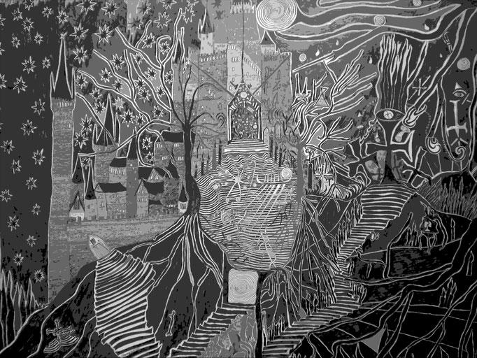 Apokalypse - 59,5 x 42 cm - 1991 - Bleistift auf Papier - digital bearbeitet