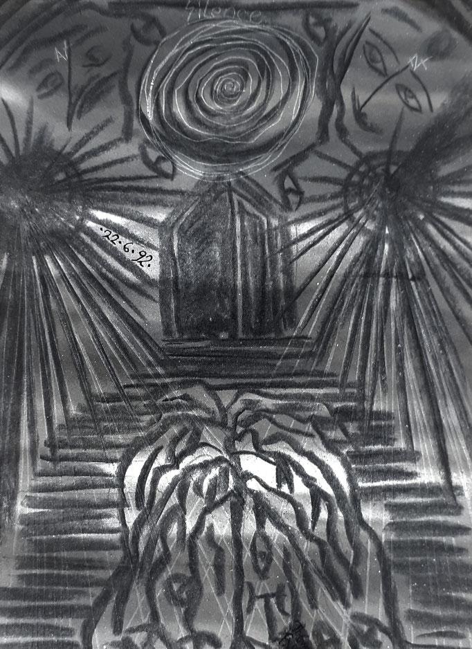 Silence - 15 x 10,5  cm - 1992 - Mischtechnik auf Papier