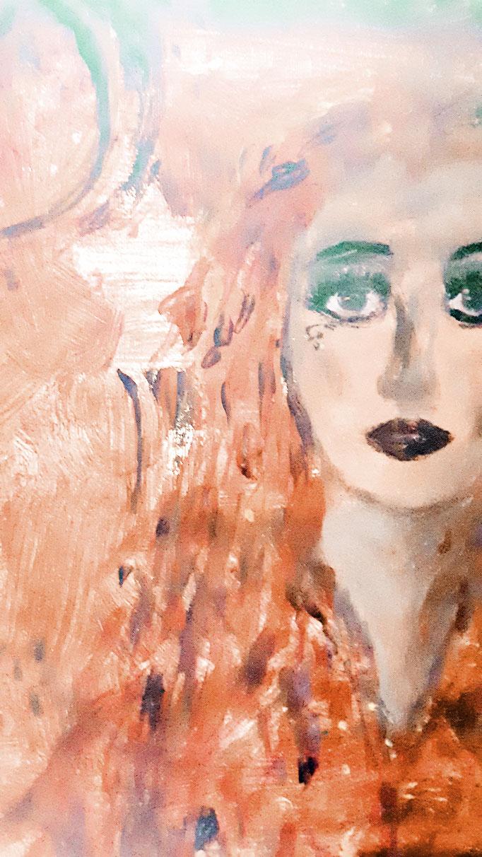 Wenn dein eigenes Licht heller leuchtet sei glücklich - 40 x 40 cm - 2019 - Acryl - Malerei auf Leinwand - Detail