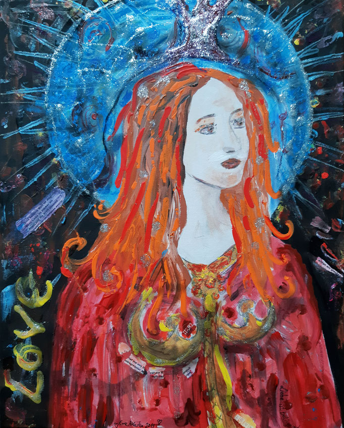 Goddess of Love - 50 x 40 cm - 2019 - Acryl - Malerei auf Leinwand