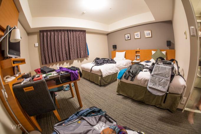 Das Doppelzimmer, für drei Nächte