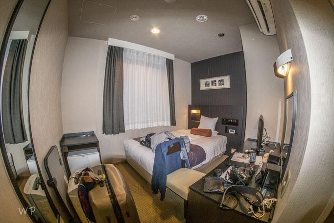 Mein Zimmer für die ersten beiden Nächte