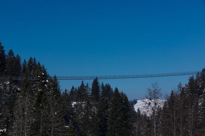Die Raiffeisen Fussgängerbrücke, 374m lang