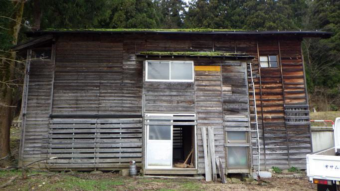 解体前本屋6間×3.5間の点典型的な昭和初期の建物。