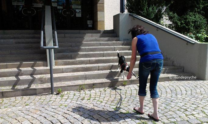 Treppen langsam laufen