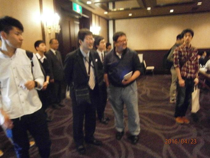 ボケててすみません。長野県連湯浅会長と山梨の内藤さん。