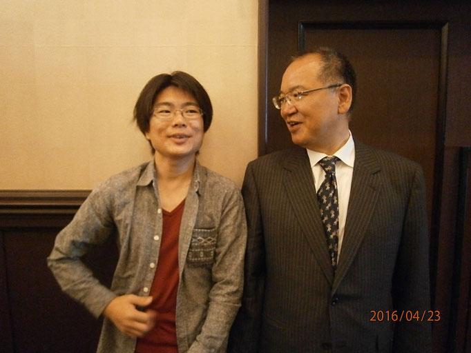 塩尻支部長の赤木さん。長野県内支部で一番若い支部長さんです。