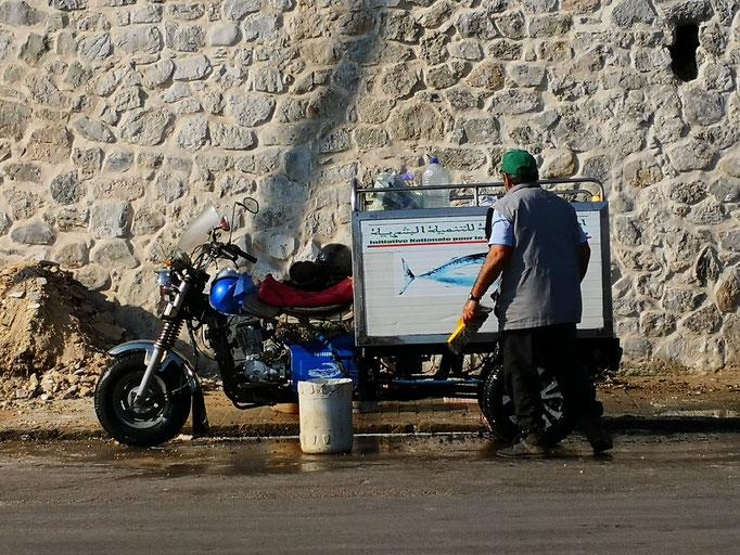 Tanger Stadtmauer - Wäsche